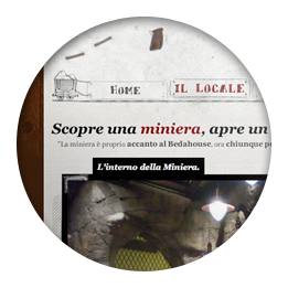 Screenshot of the Miniera dei Beda website