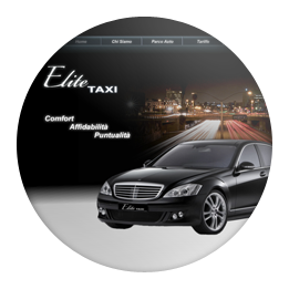 Screenshot of the Elite Taxi website